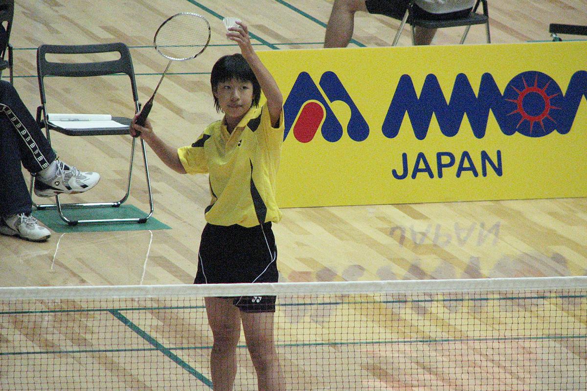 中学3年時、全日本ジュニアバドミントン選手権大会で準優勝(鳥取県)
