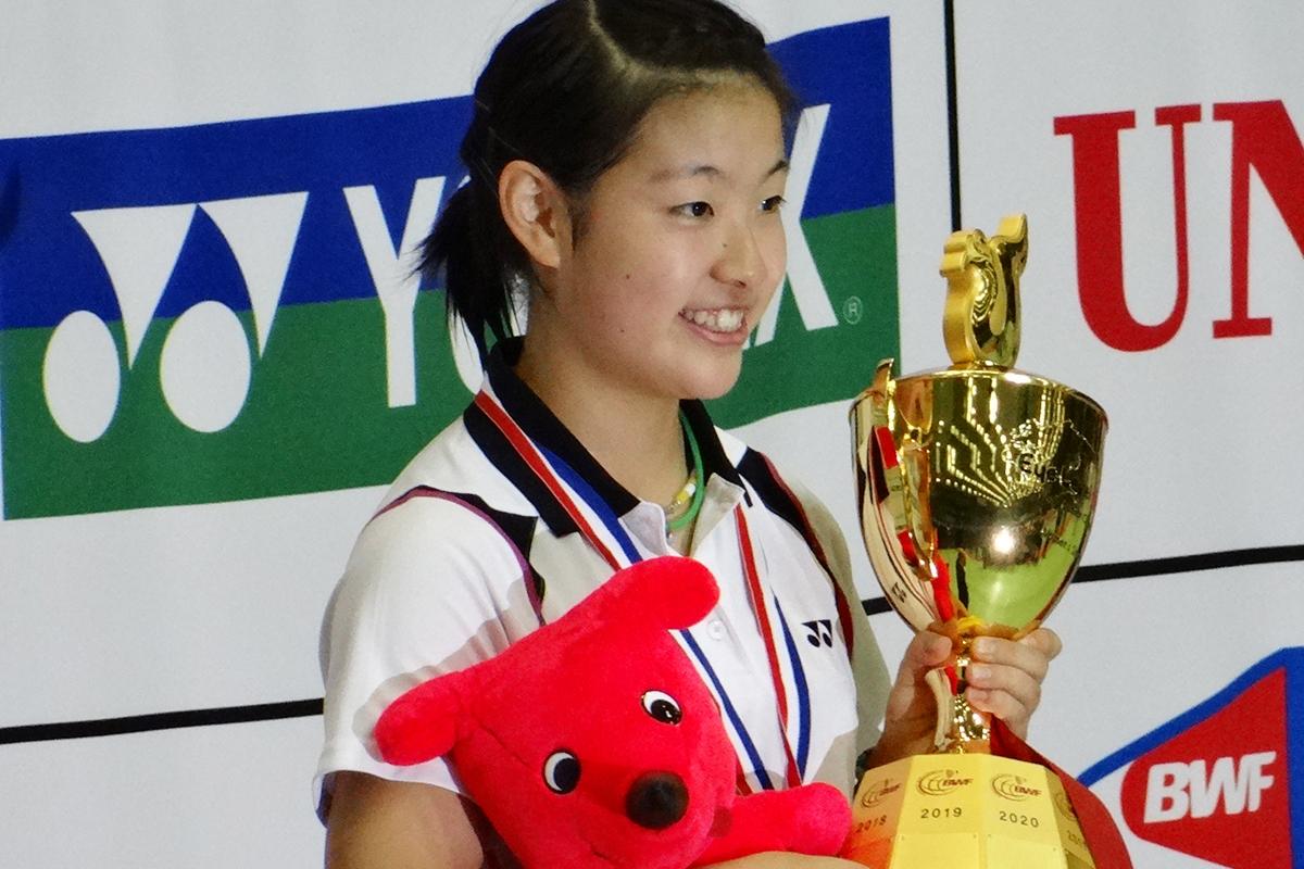 大宮東高校3年時、世界ジュニアバドミントン選手権大会優勝(千葉県) 日本史上初のシングルス優勝